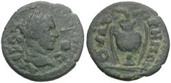 Ancient Coins - Elagabalus (AD 218-222). Lydia. Thyateira Æ20 / Vase