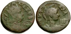 Ancient Coins - Nero.  Egypt. Alexandria BI Tetradrachm / Bust of Roma