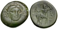 Ancient Coins - Thessaly. Gomphoi-Philippopolis Æ20 / Hera