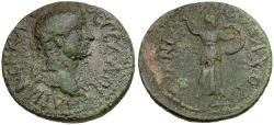Ancient Coins - Hadrian. Thessaly. Koinon. Nichomachos Strategos Æ Diassarion / Athena