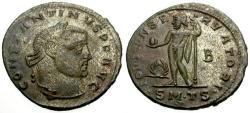 Ancient Coins - EF/EF Constantine I The Great Silvered Follis / Jupiter