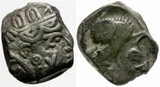 Ancient Coins - Arabia Felix. Saba AR 1/4 Drachm. Imitating Athens / Owl