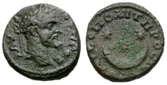 Ancient Coins - Septimius Severus. Moesia. Nikopolis Æ16 / Star and Crescent