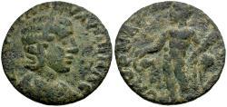 Ancient Coins - Tranquillina. Ionia. Smyrna Æ20 / Herakles