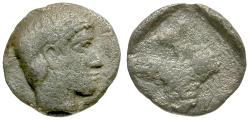 Ancient Coins - Thraco-Macedonian AR Trihemitartemorion / Grapes