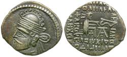 Ancient Coins - Kings of Partha. Pakoros I (AD 78-120) AR Drachm