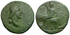 Ancient Coins - Bosporian Kings. Sauromates II Æ Denarius / Aphrodite seated