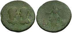 Ancient Coins - Maximinus I with Maximus Caesar. Cilicia. Flaviopolis-Flavias Æ34 / Serapis Seated