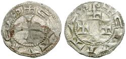 World Coins - France. Cahors. Anonymous. Bishopric AR Denier
