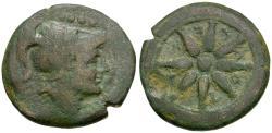 Ancient Coins - Apulia. Luceria Æ Quincunx / Wheel