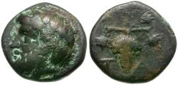 Ancient Coins - Aeolis. Temnos Æ11 / Grapes
