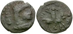 Ancient Coins - Theodosius I (AD 379-395). Imitative Æ Nummus / Theodosius on Horseback