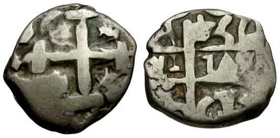 Ancient Coins - Bolivia. Fernando VI AR 1 Real Cob