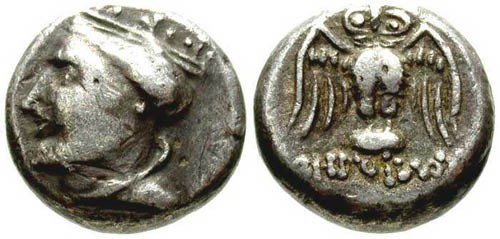 Ancient Coins - aVF/VF Amisos Pontos AR Drachm / Owl