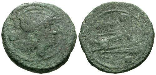 Ancient Coins - VG/VG Roman Republic AE Uncia