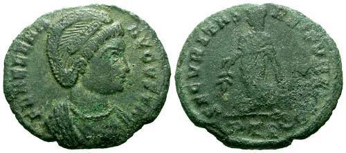 Ancient Coins - VF/VF Helena AE3 / Securitas