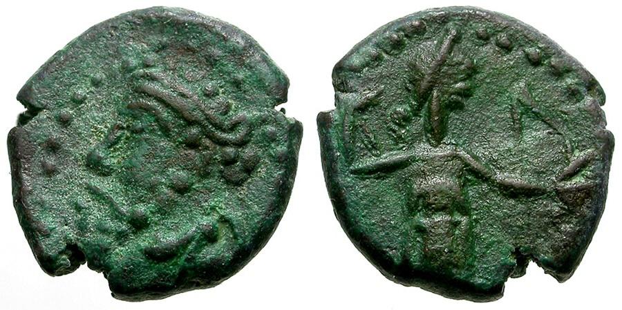 Ancient Coins - Kings of Elymais. Unknown King. Susa Mint Æ12 / Artemis