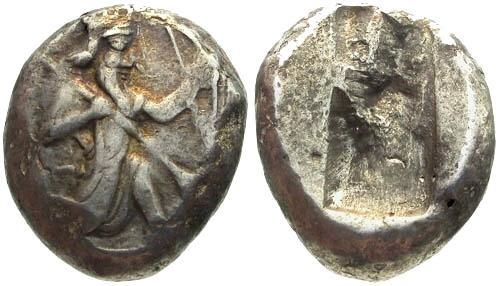 Ancient Coins - gVF/gVF PERSIA Achaemenid Kings AR Siglos