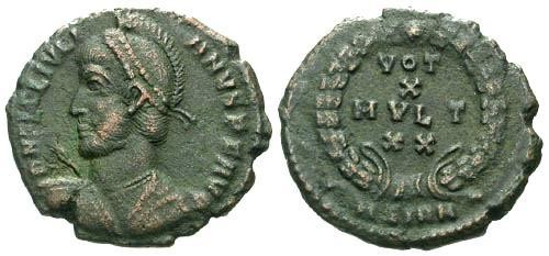 Ancient Coins - VF/VF Julian II AE Follis / Votive