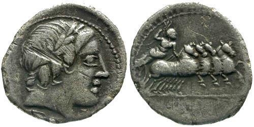 Ancient Coins - 86 Bc / aVF/aVF Gargilia 1v Roman Republic Denarius / Rare Type