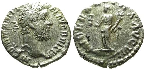 Ancient Coins - F/F Commodus AR Denarius / Liberalitas