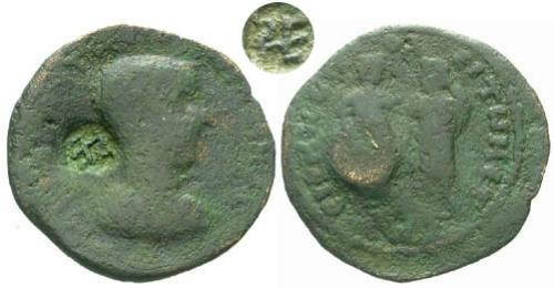 Ancient Coins - F/F Gordian III Cilicia Irenopolis AE / PE Countermark