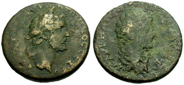 Ancient Coins - F/F Antoninus Pius and Marcus Aurelius as Caesar, Koinon of Cyprus Æ32
