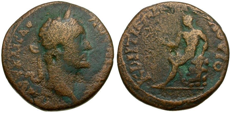 Ancient Coins - Antoninus Pius (AD 138-161). Bithynia. Creteia-Flaviopolis Æ21 / Hermes