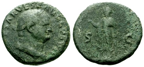 Ancient Coins - gF+/F Vespasian AE As / Spes