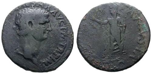 Ancient Coins - aVF/F Claudius AE Sestertius / Spes