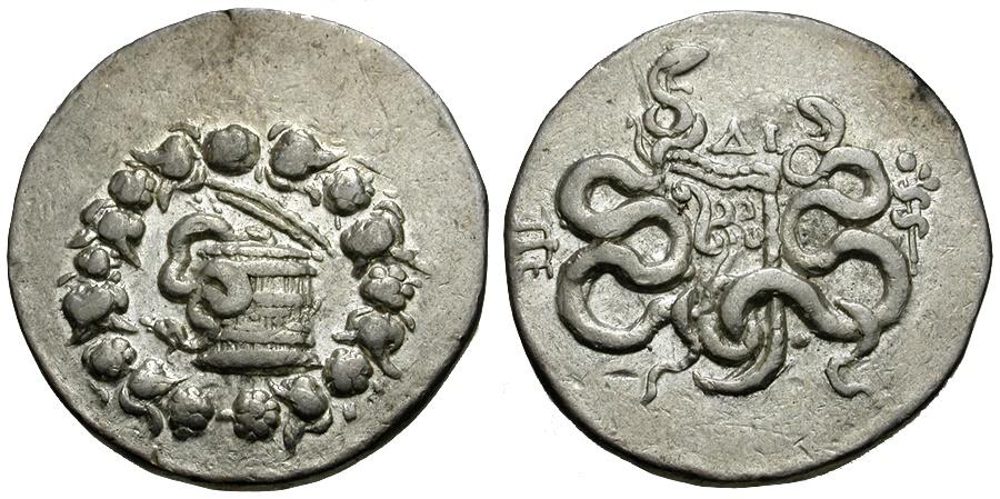 Ancient Coins - Mysia. Pergamon AR Tetradrachm / Cistophoric Type