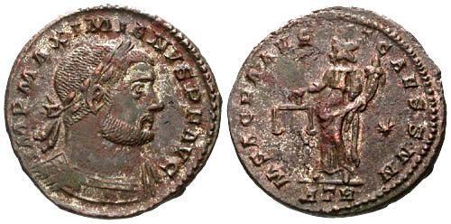 Ancient Coins - EF/VF Maximian AE Large Follis / Moneta