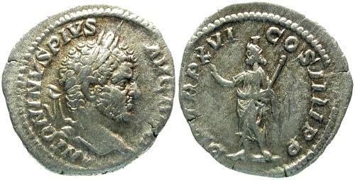 Ancient Coins - VF/VF Caracalla Denarius / Serapis