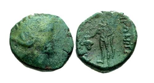 Ancient Coins - VF/F Thrace Maroneia AE18 / Dionysos