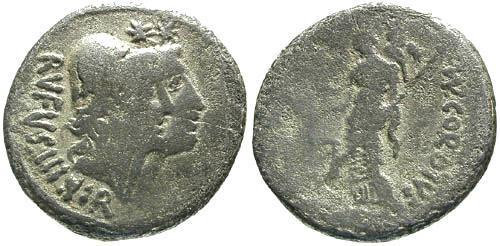 Ancient Coins - 46 BC / F/aF Cordia 1 Roman Republic Denarius / Venus