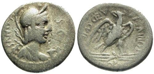 Ancient Coins - 67 BC / F/F Plaetoria 4 Roman Republic Denarius / Eagle on thunderbolt