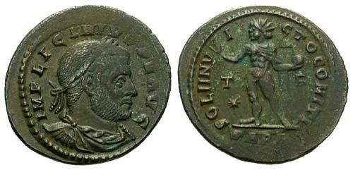 Ancient Coins - aVF/aVF Licinius Follis / Sol R4