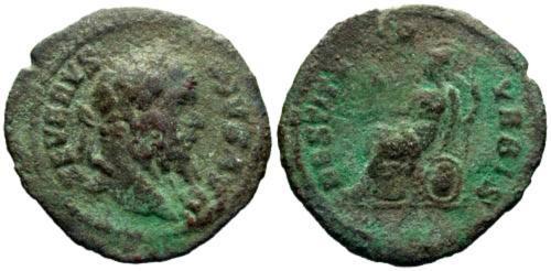 Ancient Coins - VF/VF Septimius Severus Limes Denarius