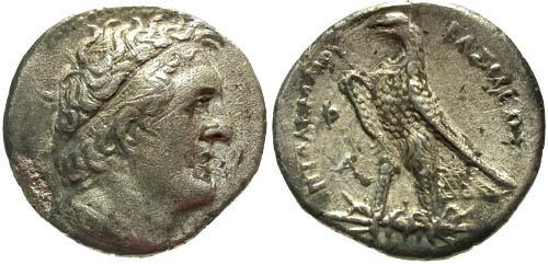 Ancient Coins - VF/VF Ptolemy I and II AR Tetradrachm / Delta behind ear