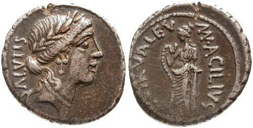 Ancient Coins - 49 BC / VF/VF Acilia 8 Roman Republic Denarius / Salus