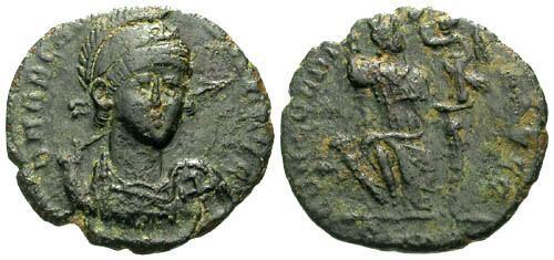 Ancient Coins - VF/VF Arcadius AE3 / Facing Portrait