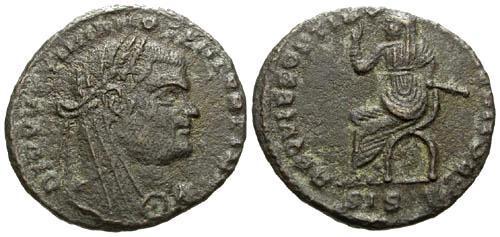 Ancient Coins - aVF/VF Maximianus Memorial AE 1/2 Follis