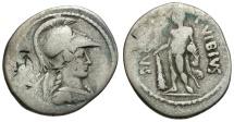 42 BC - Roman Republic C. Vibius Varus AR Denarius / Hercules