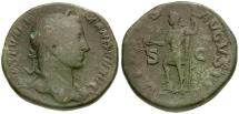 Ancient Coins - Severus Alexander Æ Sestertius / Virtus