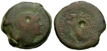 Ancient Coins - Ptolemaic Kings of Egypt. Ptolemy V Ephiphanes Æ34 Hemidrachm / Isis