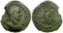 Ancient Coins - Trajan Decius Æ Sestertius / Genius