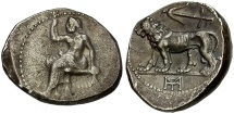Ancient Coins - Seleukid Kings. Seleukos I Nikator as Satrap AR Stater