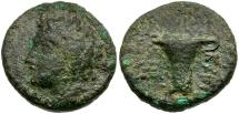 Ancient Coins - Aiolis. Tisna Æ17 / River god