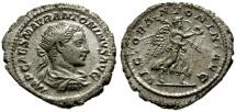 Ancient Coins - EF/EF Elagabalus AR Antoninianus / Victory