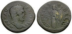 Ancient Coins - Caracalla. Macedon. Stobi Æ23 / Nike